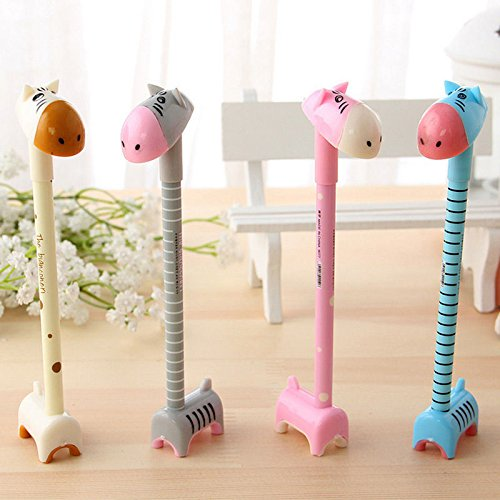 4 pcs Lovely Cute Cartoon Ball Pen Can Stand Small Donkey Ballpoint Prize Stationary