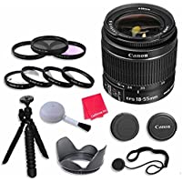 Canon EF-S 18–55mm f/3.5–5.6 IS II Lens Bundle with 58mm 3 Piece Filter Kit for Canon EOS Rebel T5, T6 Digital SLR Cameras - International Version (No Warranty)