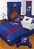 NCAA Kansas Jayhawks - 3 Pc Comforter Set - Queen and Full Size Bedding