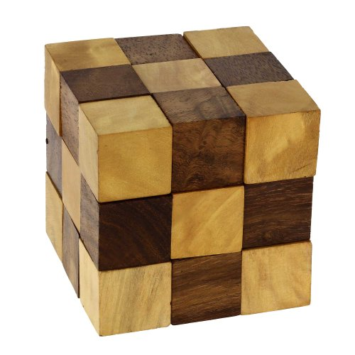 Wooden Puzzle Adult Snake Cube Handmade Gifts India by Shali