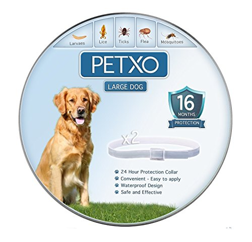 "PETXO - Dogs Flea and Tick Collar. ""16 Months Protection"". W"