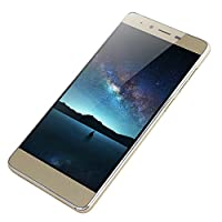 Unlocked Smartphone,2019 New 5.0″ Ultrathin Android 5.1 Quad-Core 512MB+4GB GSM 3G WiFi Dual SIM with Camera Mobile Phone Cell Phone (Gold)