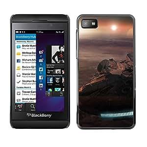 KLONGSHOP // Cubierta de piel con cierre a presión Shell trasero duro de goma Protección Caso - Halcón Milenario - Blackberry Z10 //