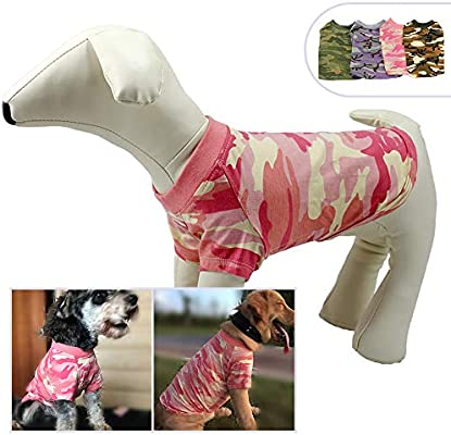 6c968a4d1468 longlongpet Pet Apparel Dog Clothes Camouflage Summer Spring T-shirt Tee  Shirts For Small Middle Large Size Dogs 100% Cotton Pink Green Purple Dog  Costumes ...