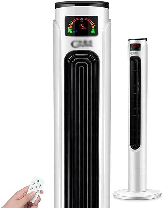 YNN Ventilador de Torre Ventilador eléctrico con Control Remoto ...