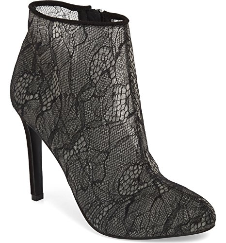 Jessica Simpson Stacie Lace Bootie, Black Lace, Size 7.0 Bkf8