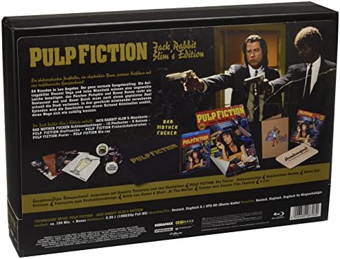 Pulp Fiction - Jack Rabbits Slims Edition - Ultimate Fan Collection Alemania Blu-ray: Amazon.es: Travolta, John, Jackson, Samuel L., Willis, Bruce, Thurman, Uma, Keitel, Harvey, Roth, Tim, Plummer, Amanda, de Medeiros, Maria,