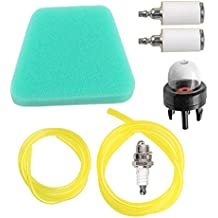 Air Fuel Filter Primer Bulb Fuel Line Spark Plug For Poulan Craftsman Chainsaw Replaces 530037793 530095646 530071835 188-513-1
