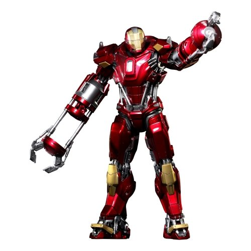 - Hot Toys Iron Man 3 Movie 1/6 Scale Power Pose Figure Iron Man Mark 35 Red Snapper