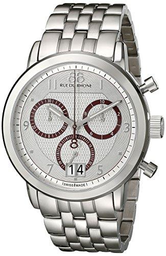 88-Rue-du-Rhone-Mens-87WA130036-Double-8-Origin-Analog-Display-Swiss-Quartz-Silver-Watch