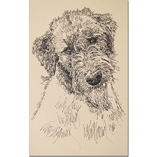 Stephen Kline Irish Wolfhound Personalized Lithograph