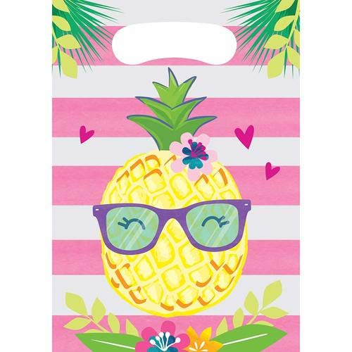Creative Converting 332429 Pineapple and friends Party Favor, 0.1 x 7 x 12, Multicolor