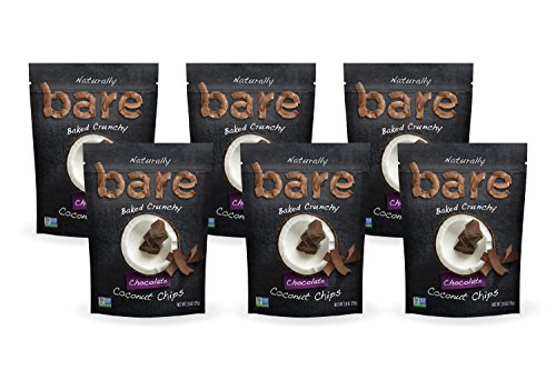 (Bare Baked Crunchy Coconut Chips, Chocolate, Gluten Free, 2.8 Ounce Bag, 6 Count)