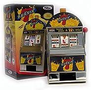 Trademark Poker Burning 7's Slot Machine Bank with Spinning R