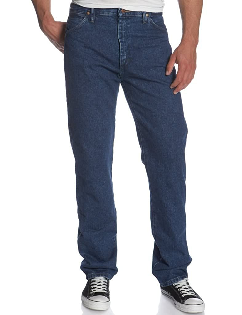 Mens Wrangler Gold Buckle Relaxed Fit Jeans 32 Inseam STONEWASH 35