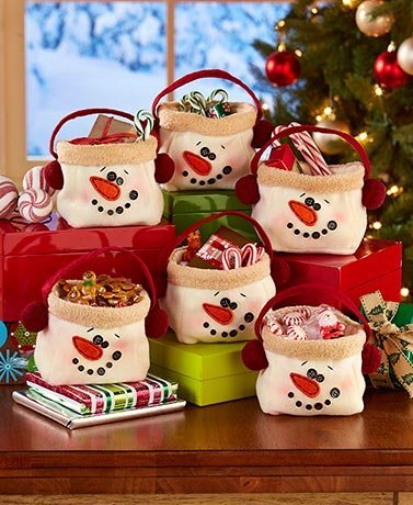 6-Pc. Snowman Treat Bags