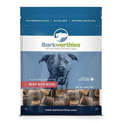Barkworthies Beef Bon Bons Treat, 8-Ounce by Barkworthies