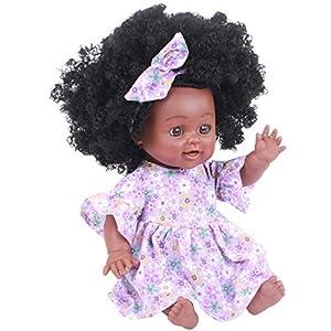 BHYDRY Black Girl Dolls African American Play Dolls Lifelike 35cm Baby Play Dolls PP/Best Birthday Gift for Children…
