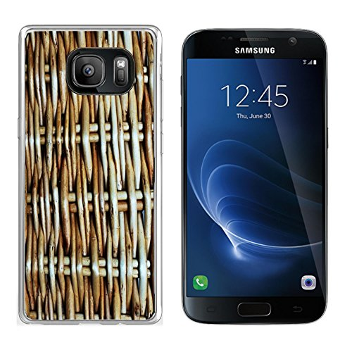 Luxlady Samsung Galaxy S7 Clear case Soft TPU Rubber Silicone IMAGE ID: 23138891 Abstract background from a wattle fence fence or protection fragment texture of a wattled
