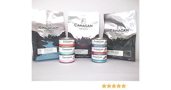 Selección de comida para gato canagan en seco y mojado: Amazon.es ...