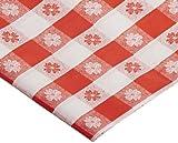 Hoffmaster, 112006mantel de plástico, 108' de largo x 54' de ancho, cuadros rojos (caja de 12)