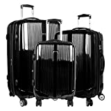 J World New York Concord Hardside 3 Piece Spinner Luggage Set