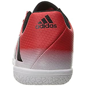 adidas Performance Kids' Messi 16.3 J Indoor Soccer Cleat, Red/Black/White, 2 M US Little Kid