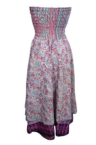 Mogul Interior - Vestido - sujetador bandeau - para mujer Rosa