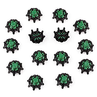 GaoCold 14 pcs Golf Spikes Pins, 1/4 Turn Fast Twist Shoe Spikes Replacement