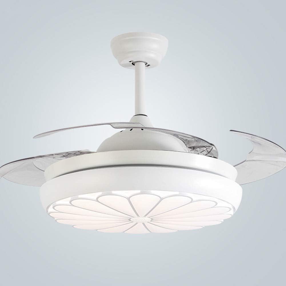 NAF Moderno Ventilador de Techo con luz/aspa del Ventilador Invisible/Control Remoto/Corriendo en Verano e Invierno iluminación Interior de 42 Pulgadas/Mute/Comodidad/Blanco: Amazon.es: Hogar