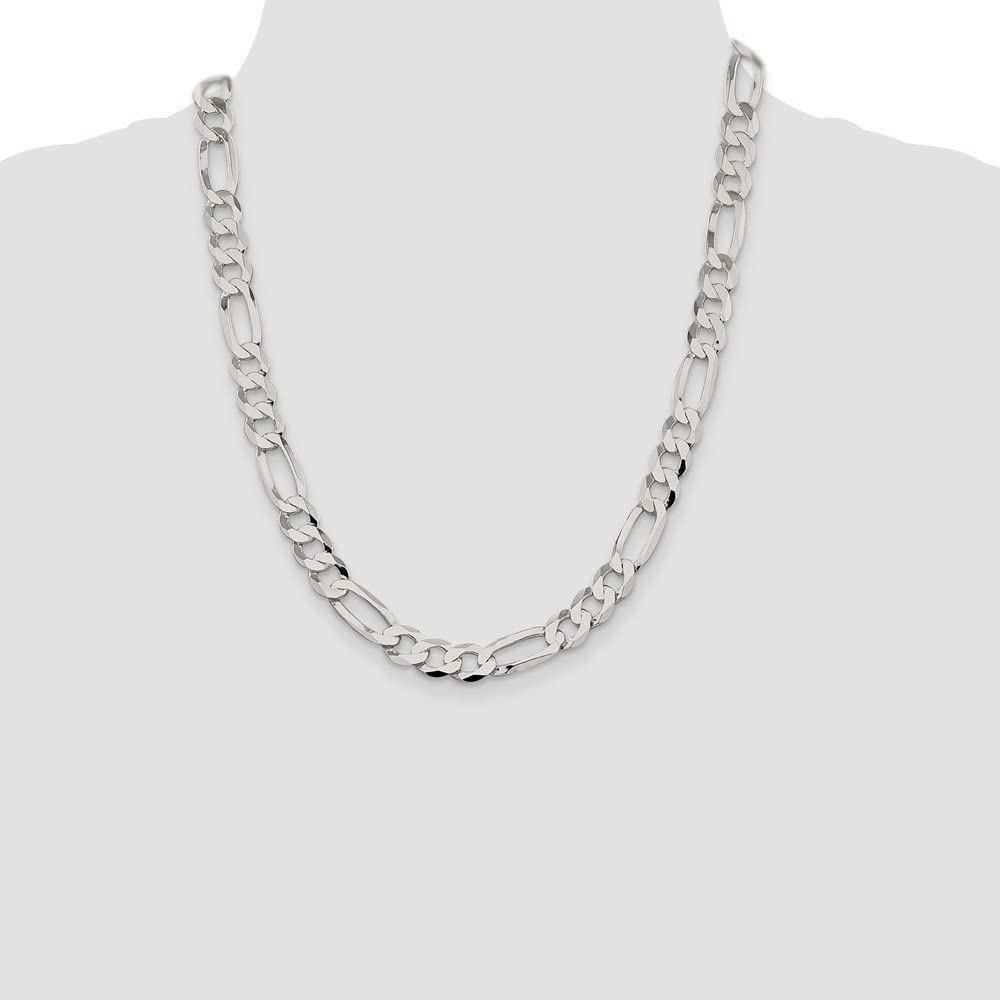 925 Sterling Silver Lightweight Figaro Chain Necklace