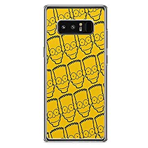 Loud Universe Bart Simpson Face Pattern Samsung Note 8 Case The Simpsons Samsung Note 8 Cover with Transparent Edges