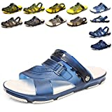 Apodidae Women's Mesh Breathable Sandal Quick-Drying Slippers Beach Slippers Non-Slip Garden Sandals Clogs Mules Shoes Blue 42
