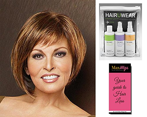 Bewitched Wig Color R6 - Raquel Welch Women's Wigs Short Asymmetrical Monofilament Top Bundle with Travel Kit, MaxWigs Hair Loss Booklet by Unknown