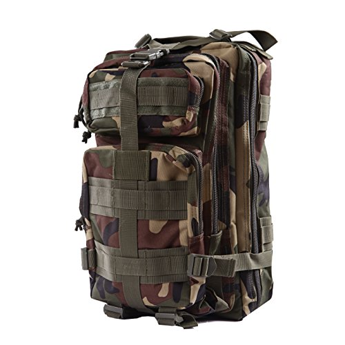 - HDE Military Tactical Backpack Expandable Small Lightweight Assault Pack 20L MOLLE Combat Bug Out Bag for Outdoors, Hiking, Camping, Trekking and Traveling