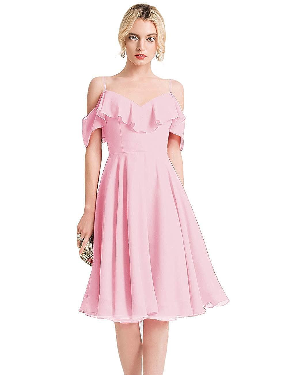 blueshB FeiYueXinXing VNeck Ruffled Spaghetti Strap Prom Dresses Long Formal Evening Gown