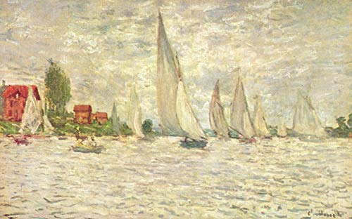 Home Comforts Laminated Poster Monet, Claude - Sailboats, Regatta in Argenteuil Vivid Imagery Poster Print 24 x 36 (Monet Sailboats)