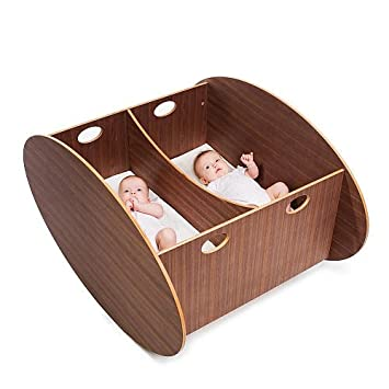 Amazon.com: BABYHOME Soro individual Cuna Nogal: Baby
