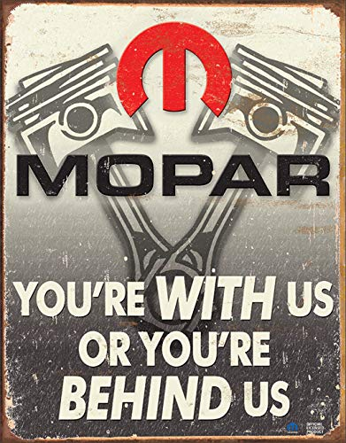 Desperate Enterprises Mopar You are Behind Us Tin Sign USA Groãÿ New 40x31 cm S4311 ()
