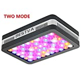 LED Grow Light 600W BESTVA Reflector Series 2 Modes Full Spectrum Plant Light for Hydroponic Indoor Plants Veg and Flower with Lens Tech Adjustable Hanger