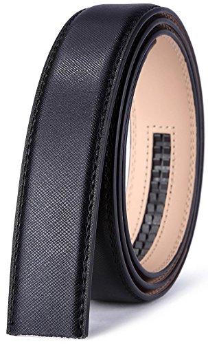 Decoration Genuine Leather Belt - Bulliant Genuine Leather Ratchet Belt,Buckle and Strap for Men 1 3/8,No Hole