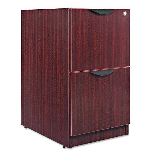 Alera VA542822MY Valencia Series 16 by 22 by 28-Inch 2-File Drawer Full Pedestal, Mahogany