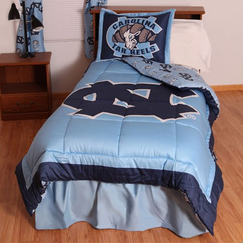 College Covers International North Carolina Tar Heels Reversible Comforter Set - Queen (Carolina Comforter)
