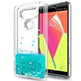 LG V20 Glitter Case for Girls Women, LeYi Bling Shiny Sparkle Cute Design Moving Quicksand Liquid Clear TPU Bumper Scratchproof Durability Protective Luxury Phone Case Cover for LG V20 ZX Turquoise