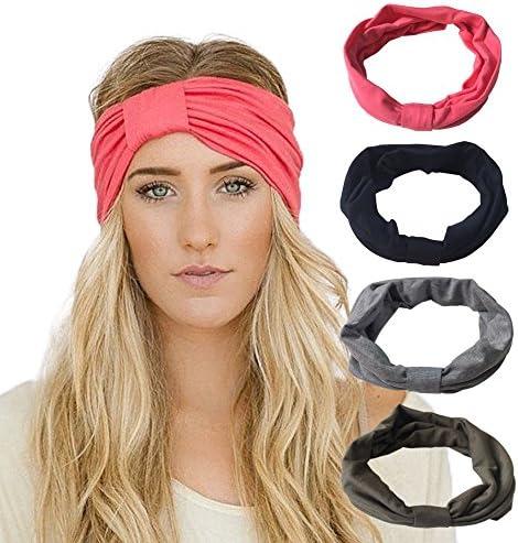 LOLIAS 10 Pack Women Headband Boho Floal Style Criss Twisted Turban Head Wrap Cute Hair Band