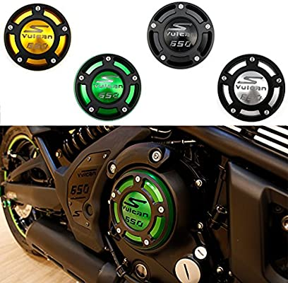 XX ecommerce Moto Tapa de la cubierta del filtro de aceite del motor CNC para Kawasaki Ninja 400 650 VN650 Z650 ER-4F (Verde)