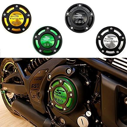 XX ecommerce Moto Tapa de la cubierta del filtro de aceite del motor CNC para Kawasaki Ninja 400 650 VN650 Z650 ER-4F (Negro)