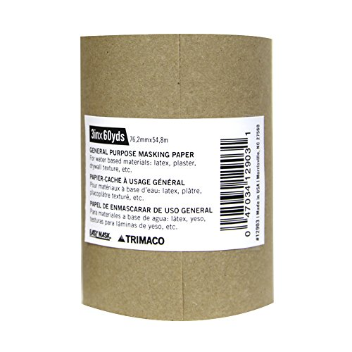 3-inch x 180-feet Brown General Purpose Masking Paper (Best Paint For Banisters)