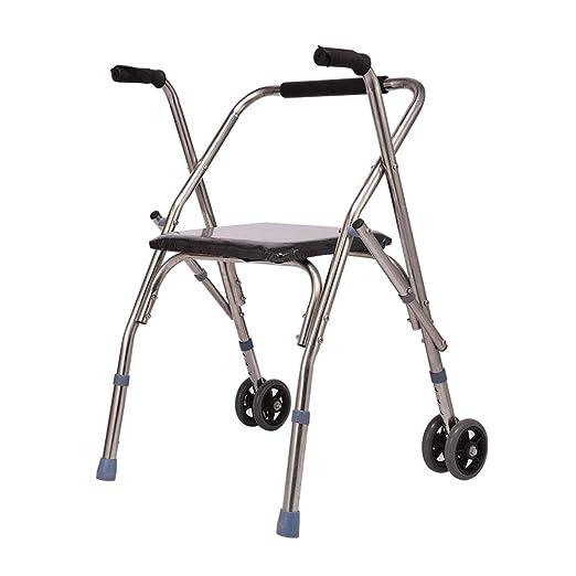 Andador bariátrico plegable ligero con 2 ruedas, andador con ...