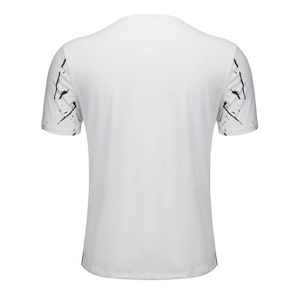 Camiseta para Hombre,Verano Manga Corta Impresi/ón Moda Casual T-Shirt Blusas Camisas Camiseta Originales Cuello Redondo Hombre Suave b/ásica Camiseta Top vpass
